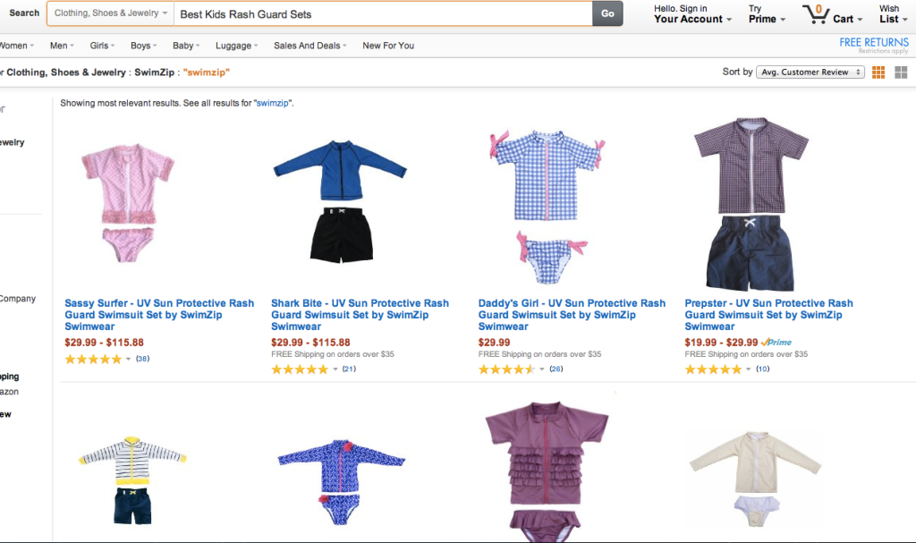 rash guard sets for kids Amazon