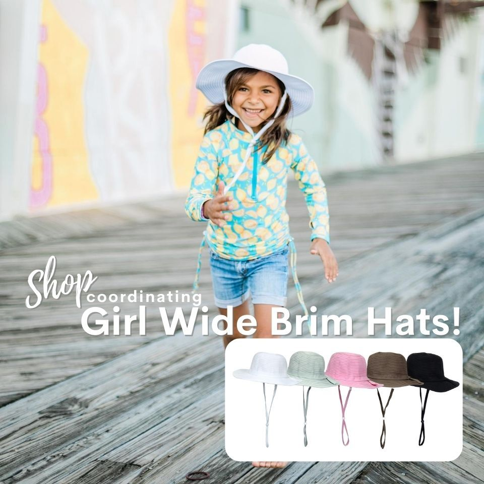 girls wide brim sun hat