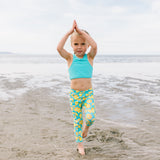 "Kid's Swim Pants - ""Lemons""-SwimZip UPF 50+ Sun Protective Swimwear & UV Zipper Rash Guards-pos2"