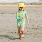 Girl's Long Sleeve Swim Dress Cover Up - Multiple Colors-SwimZip UPF 50+ Sun Protective Swimwear & UV Zipper Rash Guards-pos19