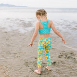 "Kid's Swim Pants - ""Lemons""-SwimZip UPF 50+ Sun Protective Swimwear & UV Zipper Rash Guards-pos4"