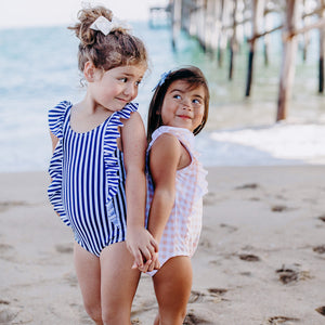 "Girl ""Too Sweet"" Ruffle One-Piece Swimsuit UPF 50+ 