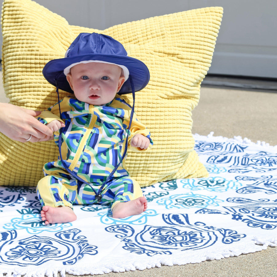 "Baby Wide Brim Sun Hat - ""Fun Sun Day Play Hat"""