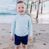 "Boy ""Catch a Wave"" Swim Trunks - Multiple Colors-SwimZip UPF 50+ Sun Protective Swimwear & UV Zipper Rash Guards-pos15"