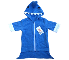 Baby Boy Shark Attack Towel Robe