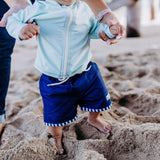"Boy ""Catch a Wave"" Swim Trunks - Multiple Colors-SwimZip UPF 50+ Sun Protective Swimwear & UV Zipper Rash Guards-pos17"
