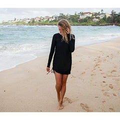 spf beach cover up black by swimzip