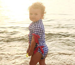 Baby Girl 6-12 Month Rash Guard Swimsuit Set (2 Piece) UPF 50+ SPF -