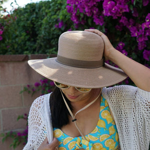 Women's Wide Brim Straw Sun Hat - SwimZip Sun Protection Swimwear