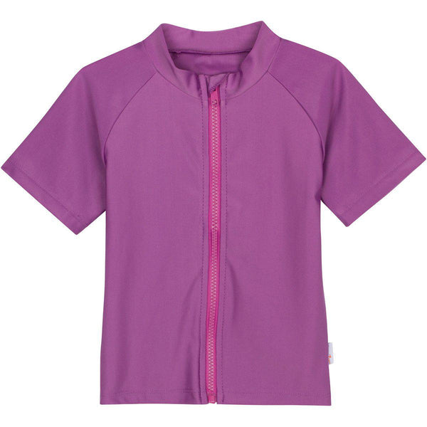 Sweet Splasher - Purple Girl Rashguard Short Sleeve