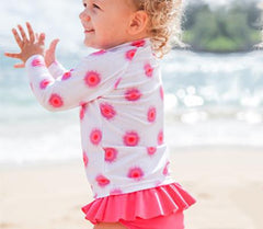 toddler girl long sleeve swimsuit pink by swimzip