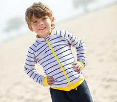 toddler boy zipper rash guard