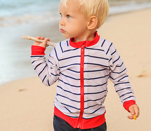 infant boy zipper rash guard