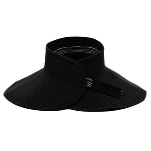 Women's Wide Brim Sun Visor - Black