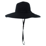 Women's Wide Brim Sun Hat (Multiple Colors)-Adult-Black-SwimZip UPF 50+ Sun Protective Swimwear & UV Zipper Rash Guards-pos3