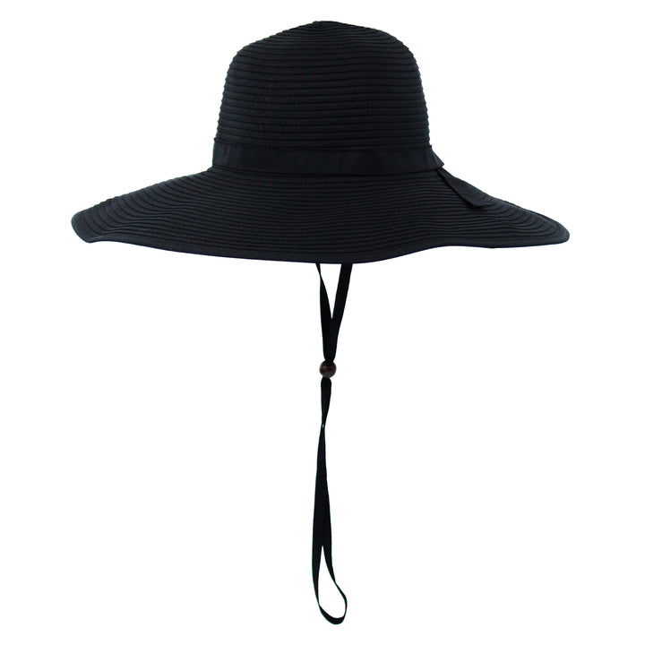 Women's Wide Brim Sun Hat - Black