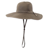 Women's Wide Brim Sun Hat (Multiple Colors)-Adult-Brown-SwimZip UPF 50+ Sun Protective Swimwear & UV Zipper Rash Guards-pos6