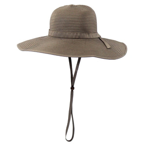 Women's Wide Brim Sun Hat - Brown - SwimZip Sun Protection Swimwear
