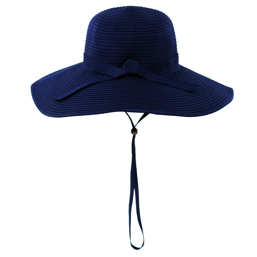 Women's Wide Brim Sun Hat - Navy-Adult-Navy-SwimZip UPF 50+ Sun Protective Swimwear & UV Zipper Rash Guards-pos5