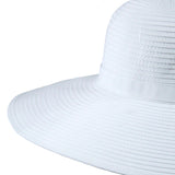 Women's Wide Brim Sun Hat - White-Adult-White-SwimZip UPF 50+ Sun Protective Swimwear & UV Zipper Rash Guards-pos3
