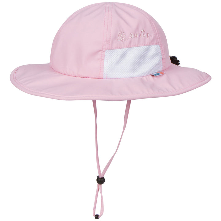 "Kid's Wide Brim Sun Hat ""Fun Sun Day Play Hat"" - Pink - SwimZip Sun Protection Swimwear"