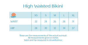 "Women's High Waist Bikini Bottoms - ""Peach Stripes"" - SwimZip Sun Protection Swimwear"