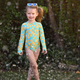 Girl's Long Sleeve Surf Suit (1 Piece) - Multiple Colors-SwimZip UPF 50+ Sun Protective Swimwear & UV Zipper Rash Guards-pos20