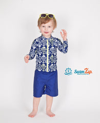 toddler long sleeve fish swimsuit