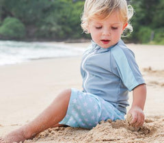 Baby Boy Rash Guard Swimsuit Set (2 Piece) with SPF 50+ | 0-3 Month