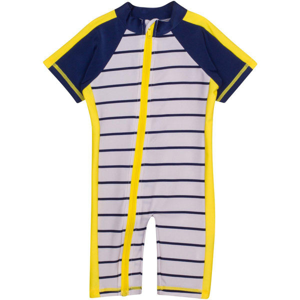 "Sunsuit - ""Hamptons Getaway"" Boy Short Sleeve Romper"