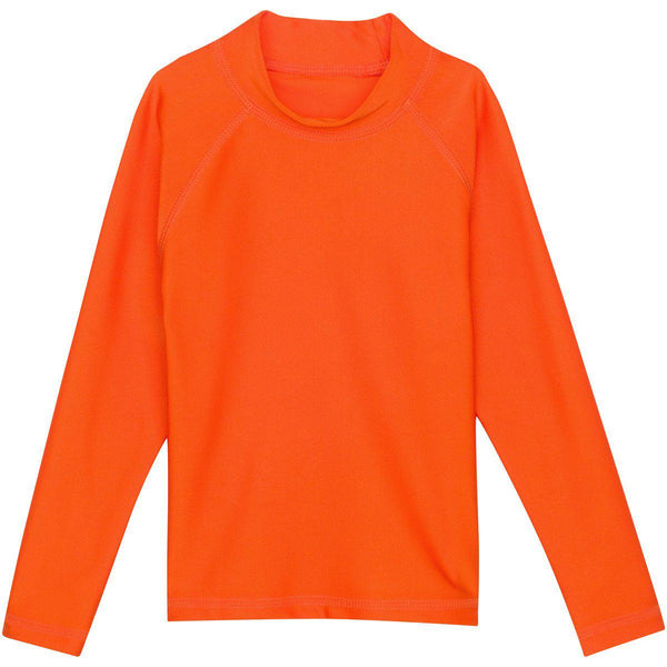 "Boy Rash Guard Long Sleeve ""No Zip"" Swim Shirt UPF 50+ (Multiple Colors) - Solid Colors"