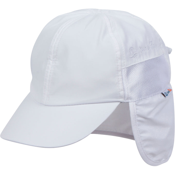 Kid's Flap Hat - White - SwimZip Sun Protection Swimwear