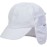 Kid's Flap Hat - UPF 50+ Adjustable Sun Hat - Multiple Colors-0-6 Month-White-SwimZip UPF 50+ Sun Protective Swimwear & UV Zipper Rash Guards-pos1