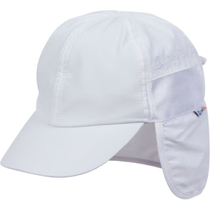 infant neck flap hat white swimzip