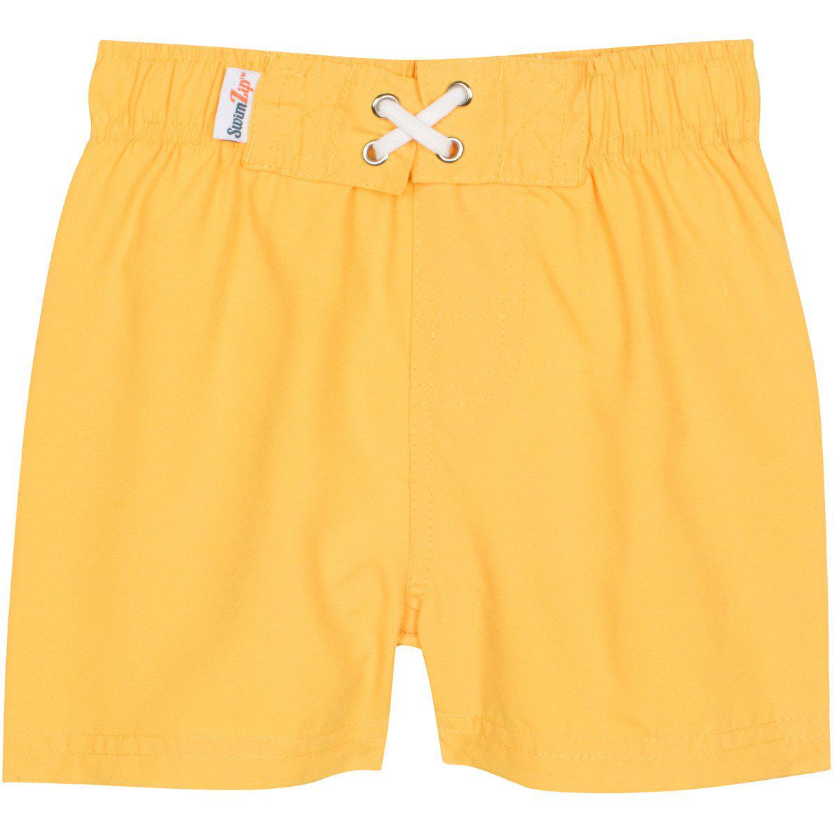 Yellow UV Swim Trunks by SwimZip