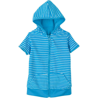 "Baby Boy 0-3 Month Beach Swimsuit Cover Up Robe with SPF 50+ UV Protection - ""Beach Break"""