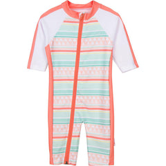 girl long sleeve sunsuit UV swimwear for baby by SwimZip