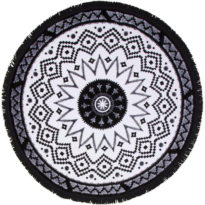 "Round Beach Towel - ""Machu Picchu"" - SwimZip Sun Protection Swimwear"
