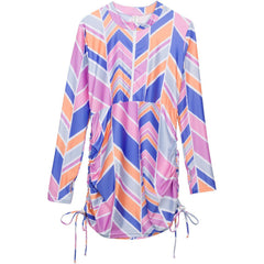 Womens SPF Beach Cover Up Essential Swim Dress UV UPF 50+ pink swim zip