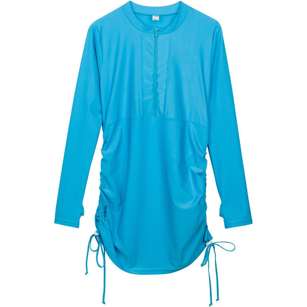 Womens Sun Protective Swim Dress Cover Up Turquoise