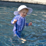 "Kid's Wide Brim Sun Hat ""Fun Sun Day Play Hat"" - White-SwimZip UPF 50+ Sun Protective Swimwear & UV Zipper Rash Guards-pos3"
