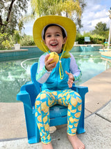 "Kid's Swim Pants - ""Lemons""-SwimZip UPF 50+ Sun Protective Swimwear & UV Zipper Rash Guards-pos13"