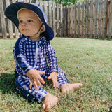 "Kid's Wide Brim Sun Hat ""Fun Sun Day Play Hat"" - Navy-SwimZip UPF 50+ Sun Protective Swimwear & UV Zipper Rash Guards-pos3"