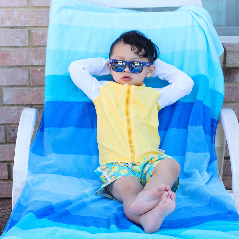Kids' Wayfarer Sunglasses - Navy-SwimZip UPF 50+ Sun Protective Swimwear & UV Zipper Rash Guards-pos7