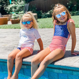 Kids' Wayfarer Sunglasses - Navy-SwimZip UPF 50+ Sun Protective Swimwear & UV Zipper Rash Guards-pos4