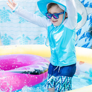 Sunglasses for Kids - Navy Wayfarer - SwimZip Sun Protection Swimwear
