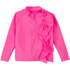 pink zipper rash guard swim shirt upf uv sun protective swimzip