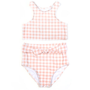 "Girl ""Tied with a Bow"" Halter Bikini 2 Piece Swimsuit Set - Multiple Colors"