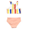 "Little Girl Halter (2 Piece) | ""Multi Stripe"""