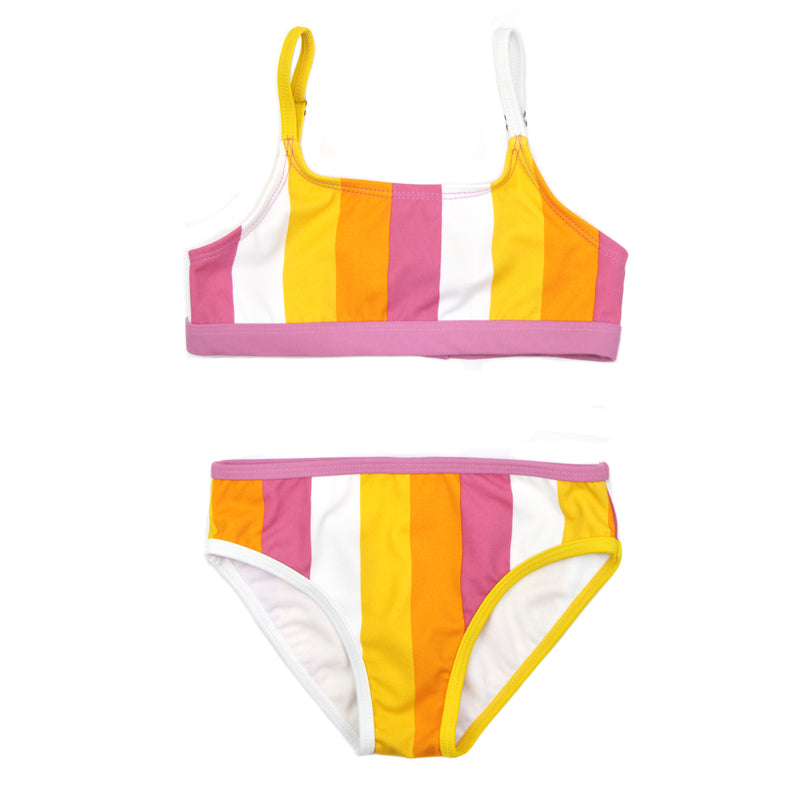"Girl's Bikini Set (2 Piece) - ""Be Bold""-2T-Be Bold-SwimZip UPF 50+ Sun Protective Swimwear & UV Zipper Rash Guards-pos1"